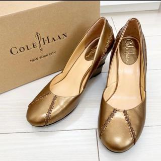 Cole Haan - 新品同様!コールハーン 23.0 ブラウン ゴールド パンプス