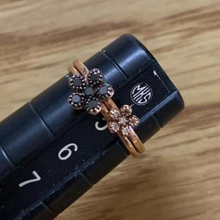 K10 ダイヤモンド リング  2個セット ピンキーリング(リング(指輪))