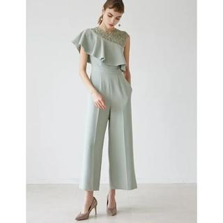 ラグナムーン(LagunaMoon)の LADYラッフルワイドパンツドレス(その他ドレス)