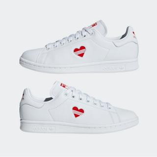 adidas - 24.0 アディダス オリジナルス スタンスミス ハート 白 ホワイト