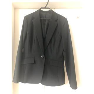 アールユー(RU)のマルイ ru スーツ ジャケット 黒ストライプ(スーツ)