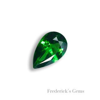 鮮やかなビビッドグリーン 0.2ct UP 天然 ツァボライト ルース(リング(指輪))