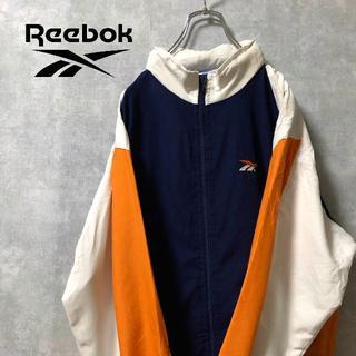 リーボック(Reebok)のReebok バックロゴ 派手 ジャケット(ナイロンジャケット)