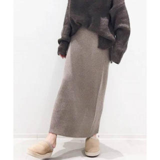 L'Appartement DEUXIEME CLASSE - L'Appartement KNIT SKIRT  ベージュ