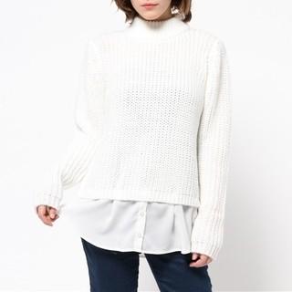 rienda - 《rienda》ハイネックシャツ レイヤード 長袖ニット F