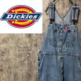 Dickies - 【激レア】ディッキーズ☆メキシコ製ロゴタグ入りデニムオーバーオール