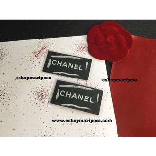 CHANEL - シャネル 厚手の上質な包装紙♪ 2枚 + ロゴシール黒2枚 ラッピングペーパー