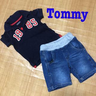 トミーヒルフィガー(TOMMY HILFIGER)のTommy and  kladskap ◆80cm ポロシャツ パンツ(Tシャツ)