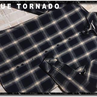 TORNADO MART - ブルートルネード チェック長袖シャツ
