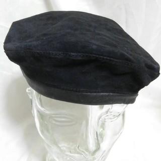 カシラ(CA4LA)の本革 スエードレザー アーミー ハンチング 未使用品 The Look(ハンチング/ベレー帽)