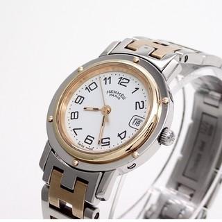 Hermes - 【HERMES】エルメス腕時計 'クリッパー コンビモデル' ☆ホワイト文字盤☆