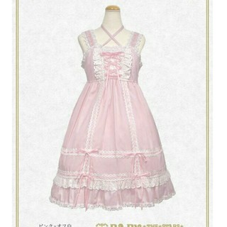 BABY,THE STARS SHINE BRIGHT - BABY ベビードール ジャンパースカート ピンク