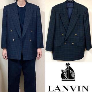 ランバン(LANVIN)の90's LANVIN ランバン ダブルジャケット スーツ(テーラードジャケット)