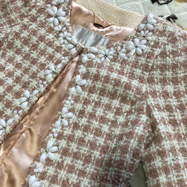 Rady(レディー)のビジュー ノーカラージャケット 入学式 レディースのジャケット/アウター(ノーカラージャケット)の商品写真