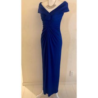 タダシショウジ(TADASHI SHOJI)のタダシショージ ブルー ロングドレス(ロングドレス)
