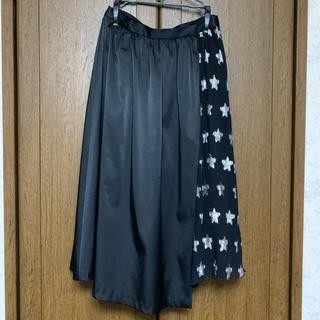 ロペ(ROPE)のペチコート付 アシンメトリーラップスカート(ロングスカート)