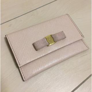Ferragamo - フェラガモ  名刺入れ カードケース ピンク ヴァラ