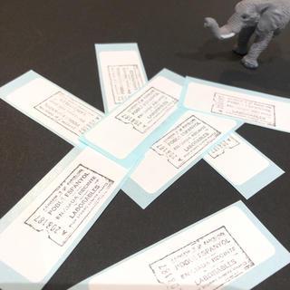 ❀.*・゜new ホワイトシール ミニラベル  アンティーク チケット 50枚(カード/レター/ラッピング)