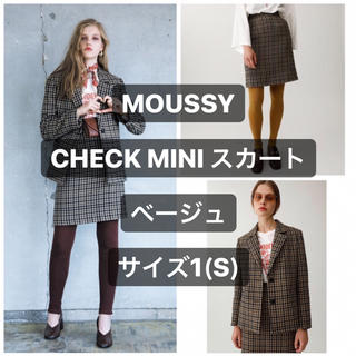 moussy - MOUSSY CHECK MINI スカート