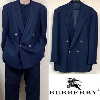 BURBERRY - 90's Burberry バーバリー ダブルジャケット スーツ 金ボタン