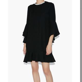 BARNEYS NEW YORK - ヨーコチャン パールドレス ブラック 黒 長袖 新品未使用タグ付き