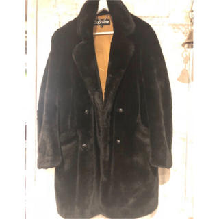 Supreme - 2016AW  Faux Fur Double Breasted Coat