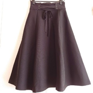SCOT CLUB - [新品]ananaアナナ/ウエストレースアップフレアスカート