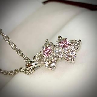 🌹【綺麗】輝き抜群♡可憐な双子のピンクダイヤペンダント