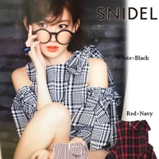 スナイデル(snidel)のSNIDEL 完売リボンディテールブラウス(シャツ/ブラウス(長袖/七分))