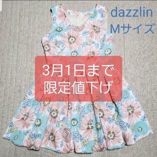 ダズリン(dazzlin)のdazzlin 花柄ワンピース(ミニワンピース)