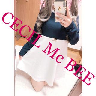 CECIL McBEE - 1660.CECIL Mc BEE バイカラー ウエストデザイン フレアワンピ