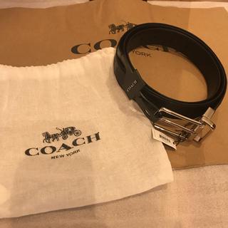 COACH - コーチ coach ベルト メンズ シグネチャー 型押し