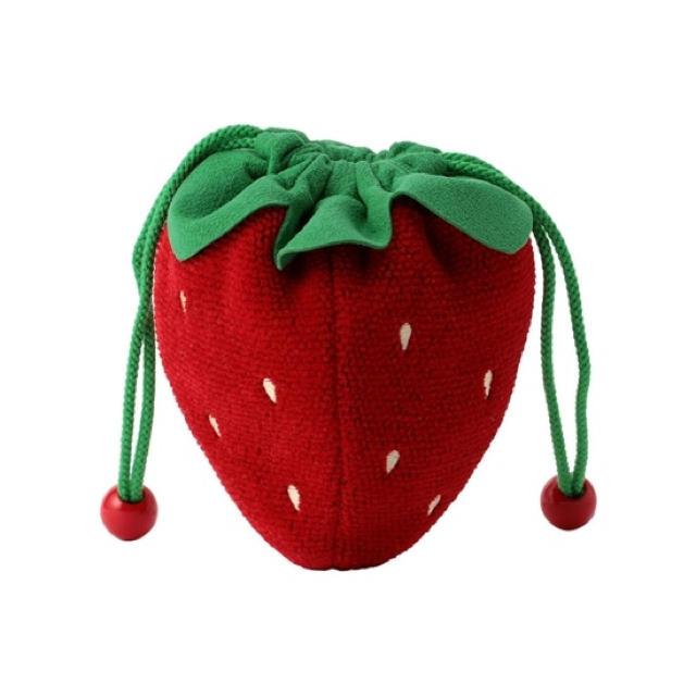 FEILER(フェイラー)のフェイラー   ストロベリードット イチゴ型巾着 レディースのファッション小物(ポーチ)の商品写真