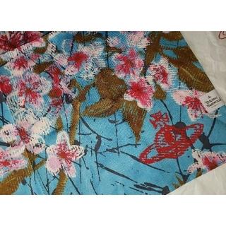 Vivienne Westwood - 🌸最新作先取り🌸春物🌸桜柄ハンカチBL🌸ヴィヴィアンウエストウッド
