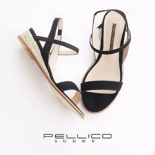 PELLICO - PELLICO SUNNY アカシアスエードサンダル黒35