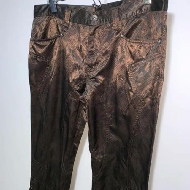 JOHN LAWRENCE SULLIVAN(ジョンローレンスサリバン)のvintage   パイソンフレアパンツ 編み込みパンツ 切り替えブーツカット メンズのパンツ(スラックス)の商品写真