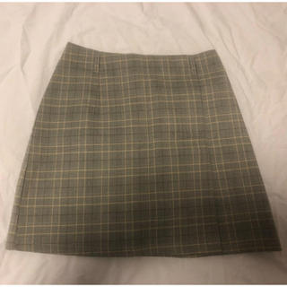 GRL - GRL チェック ミニスカート