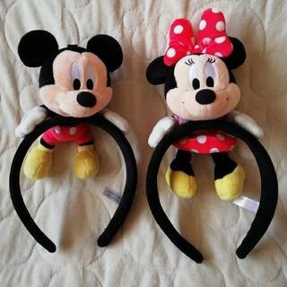 Disney - ディズニーリゾート ミッキー&ミニーぬいぐるみ付カチューシャセット