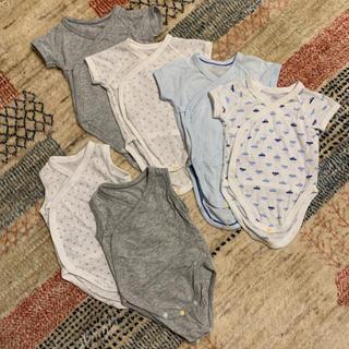UNIQLO - UNIQLO★新生児男の子用コットンメッシュ肌着6枚セット 60