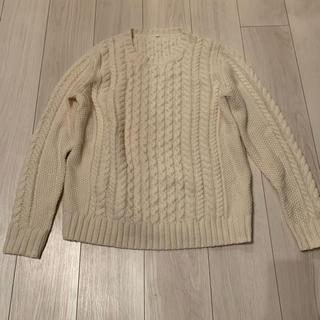 MUJI (無印良品) - ホワイトニット セーター