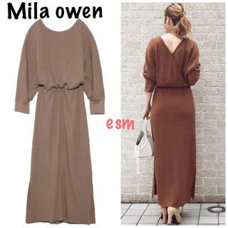 Mila Owen - Mila owen☆ミラオーウェン☆バックカシュクールワッフルワンピース