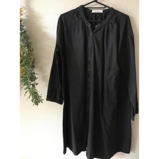 MUJI (無印良品) - シンプル シャツ ワンピース 羽織