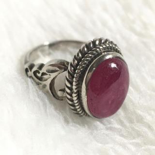 宝石リングルビーSILVER925 シルバー925 リング 箱付き宝石ルビー指輪(リング(指輪))