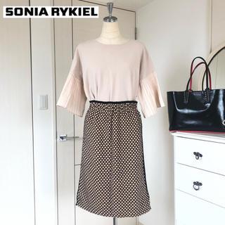 ソニアリキエル(SONIA RYKIEL)のソニアリキエル コレクション ストレッチウールニットスカート38 (ひざ丈スカート)