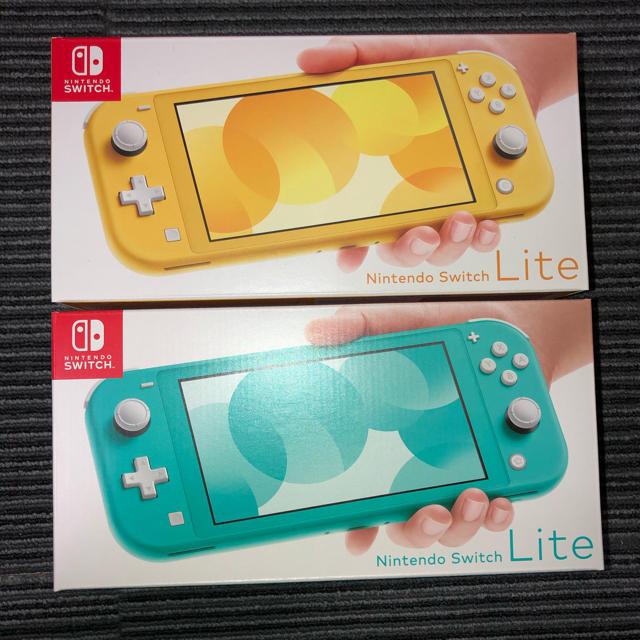 Nintendo Switch(ニンテンドースイッチ)の新品未使用 switch lite 2個セット エンタメ/ホビーのゲームソフト/ゲーム機本体(家庭用ゲーム機本体)の商品写真