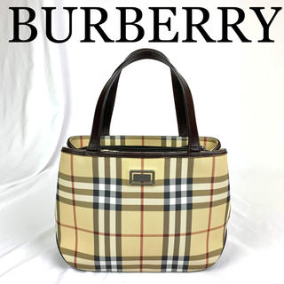 BURBERRY - 極美品 BURBERRY バーバリー チェック柄 ハンドバッグ