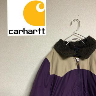 カーハート(carhartt)のcarhartt  カーハート ダウン パープル レアカラー 古着女子 希少(ダウンジャケット)