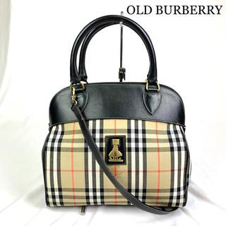 BURBERRY - 美品 OLD BURBERRY バーバリー レアロゴ金具 2way バッグ