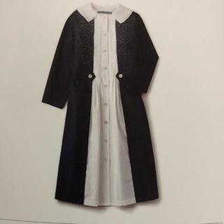 JaneMarple - マテリアルミックス コートドレス