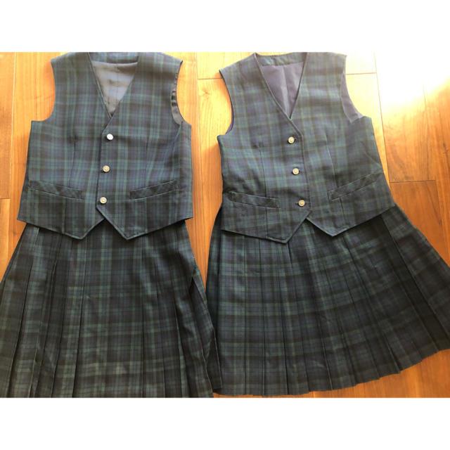 ベスト&スカート 2セット レディースのスカート(ひざ丈スカート)の商品写真